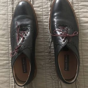 Men's Ashton Gray lace-up dress shoes